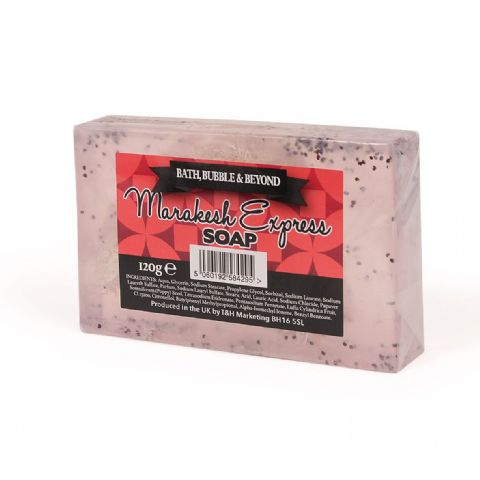 Marrakesh Express Patchouli & Rose Glycerin Soap Slice - Bath Bubble & Beyond 120g